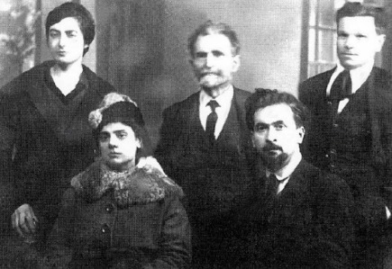 From top left Adalgisa Romagnoli, Malatesta and Clodoveo Bonazzi. Front Virgilia D'Andrea and Armando Borghi, Bologna, 1920