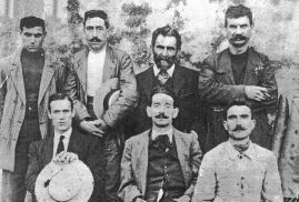 Malatesta (2nd top right) with the Arditi del Popolo (The People's Daring Ones - Militant Anti-Fascist Defence group), 1921